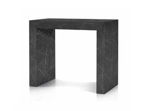 Tavolo in laminato rettangolare Consolle finitura marmo Md work in Offerta Outlet