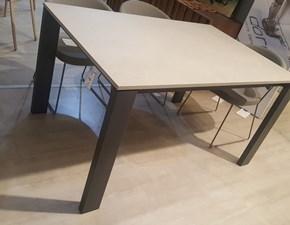 Tavolo in laminato rettangolare Tom Bontempi casa in offerta outlet