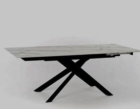 Tavolo in laminato rettangolare Xavier allungabile hpl marmo Stones a prezzo scontato