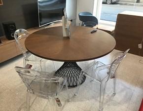 Tavolo in laminato rotondo Tondo design Artigianale in offerta outlet