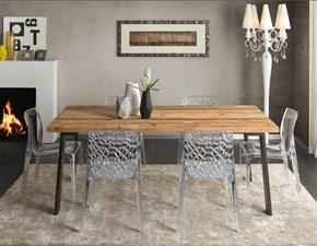 Tavolo in conifera vecchia con gambe in ferro tavolo fisso