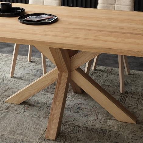 Tavolo in legno di frassino massello tinto naturale for Tavolo legno frassino