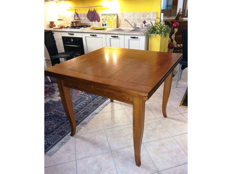 Tavolo in legno di noce allungabile a libro - Tavoli a prezzi scontati