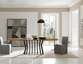 Tavolo in legno di rovere sagomato ovale in Offerta Outlet