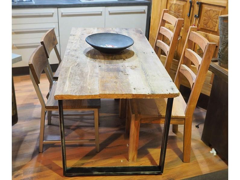 tavolo in legno e ferro moderno industrial 80 x160 all 240 in ...