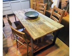 tavolo industrial allungabile offerta in legno e ferro outlet convenienza