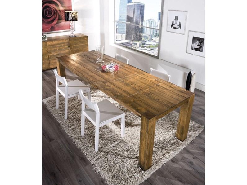 Tavolo allungabile in legno in promozione scontato del 43 - Sedie da abbinare a tavolo in legno ...