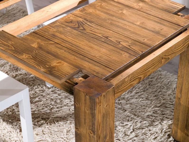Tavolo allungabile in legno in promozione scontato del 43 - Tavolo legno grezzo ikea ...
