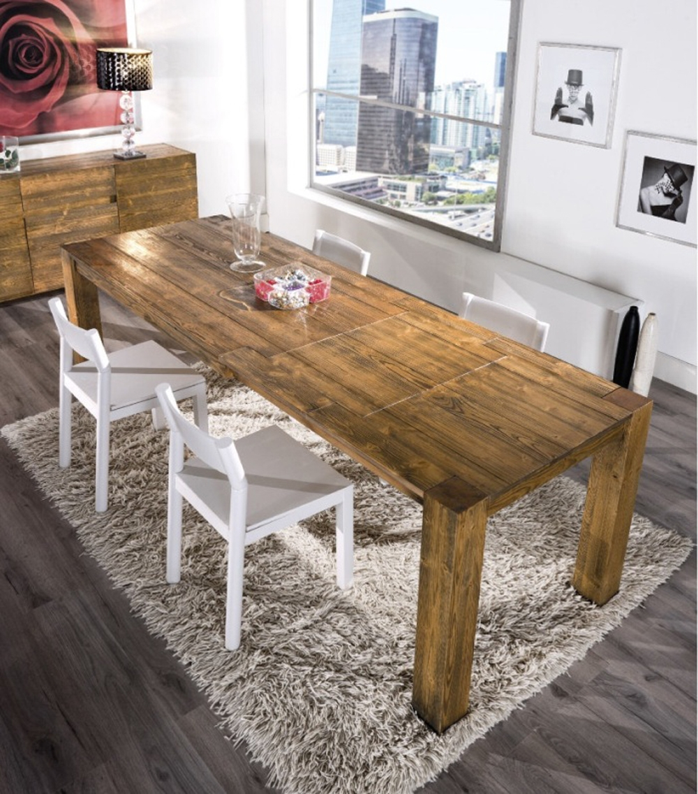 Tavolo allungabile in legno in promozione scontato del 43 - Tavolo cucina legno grezzo ...