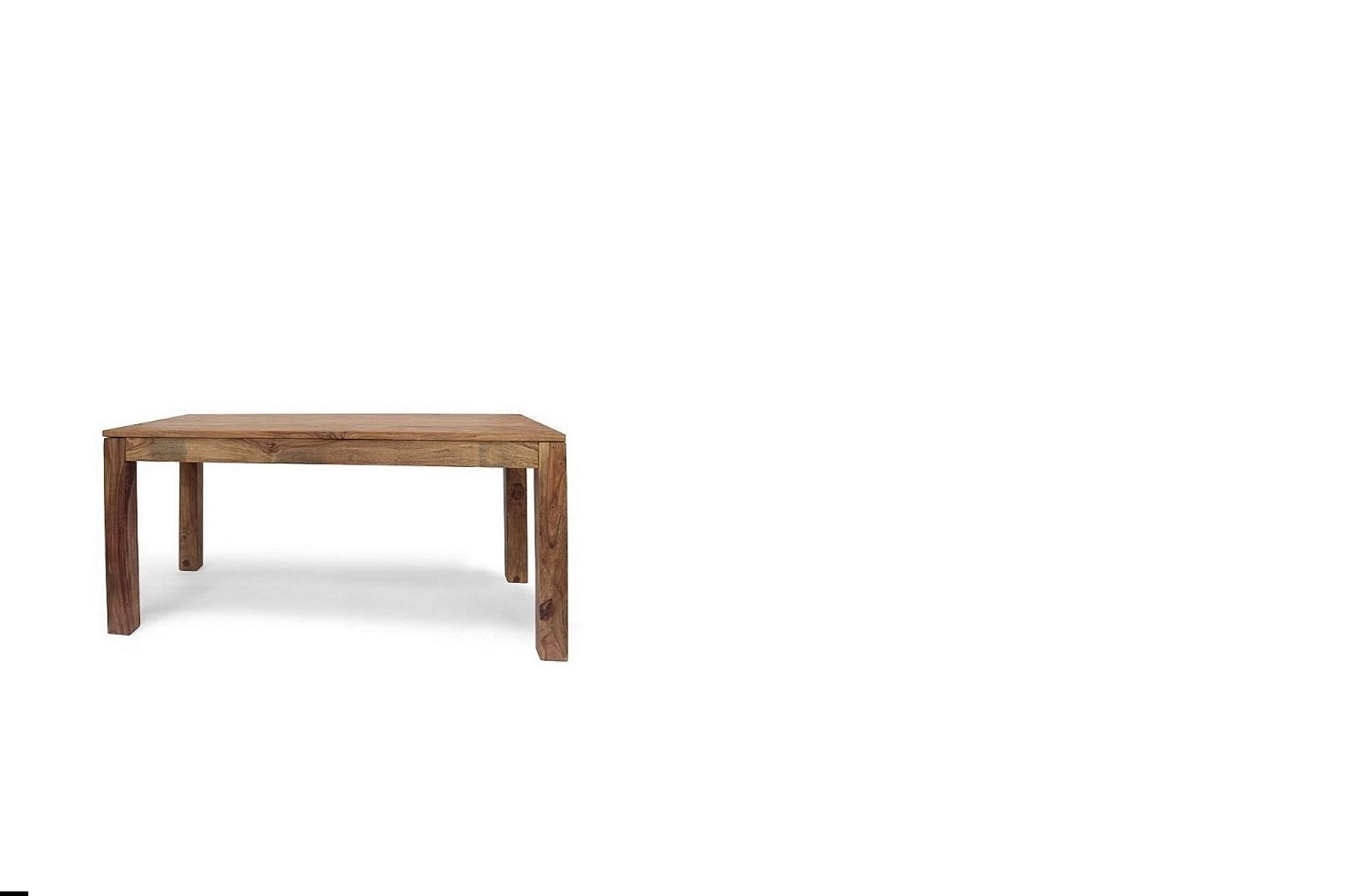Tavolo in legno massello di noce colore naturale - Tavolo noce massello ...
