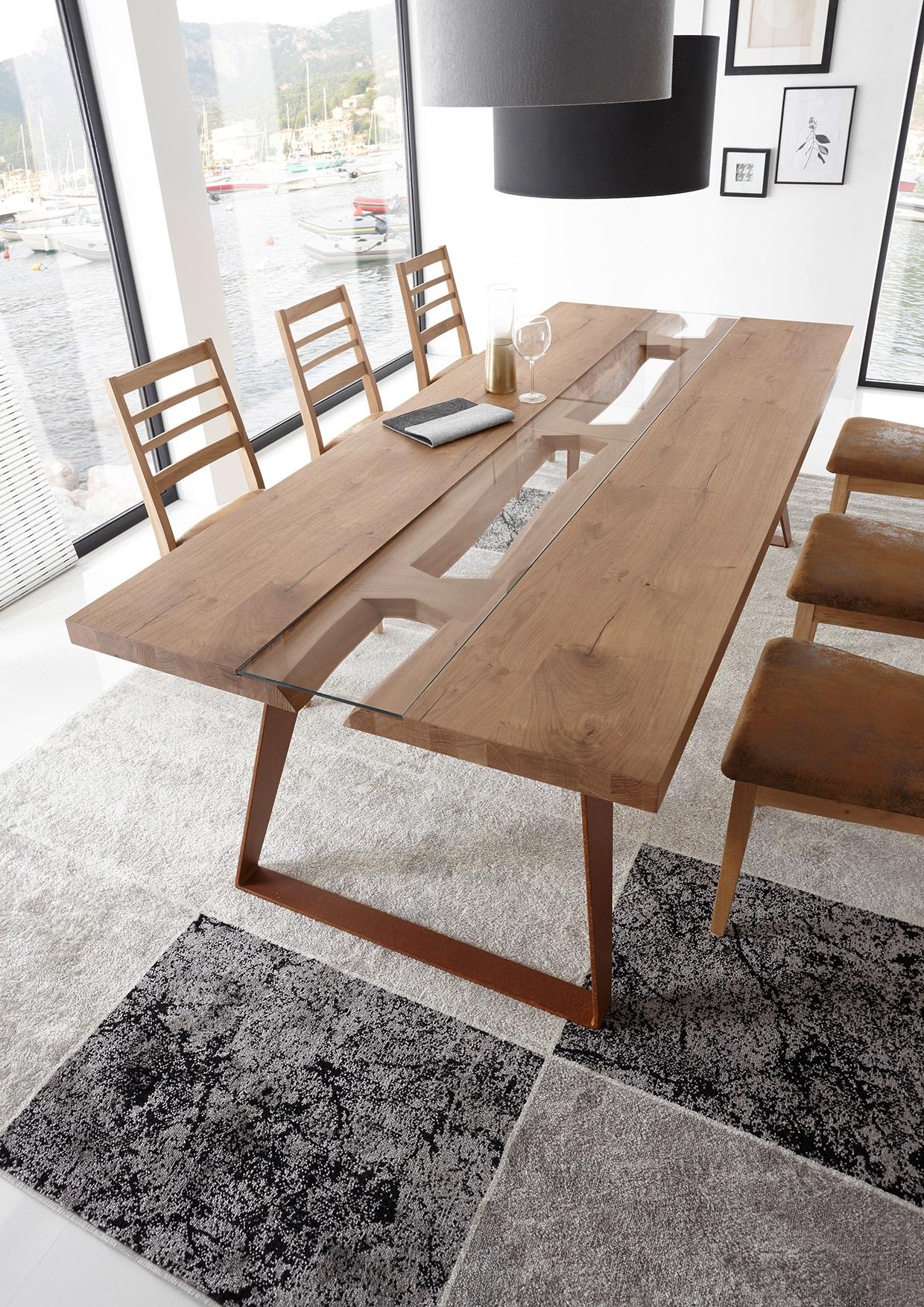 Tavolo in legno massello e gambe in metallo tavoli a prezzi scontati - Tavolo legno massello ...