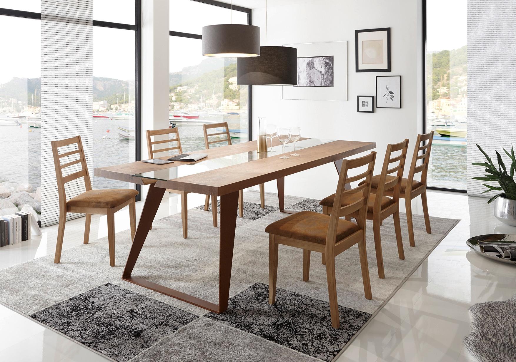 Tavolo in legno massello e gambe in metallo - Tavoli a ...