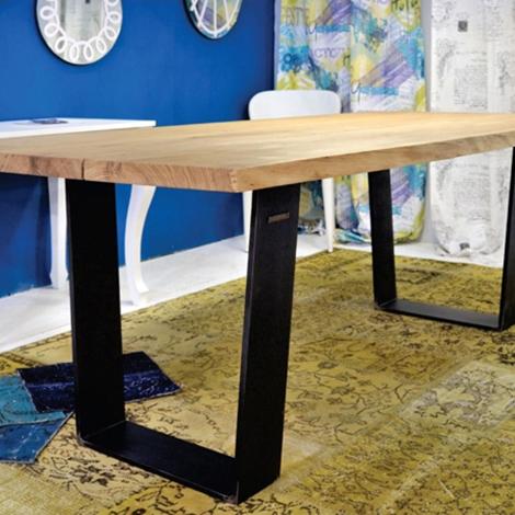 Tavolo rettangolare fisso in legno massello con struttura - Tavoli in legno prezzi ...