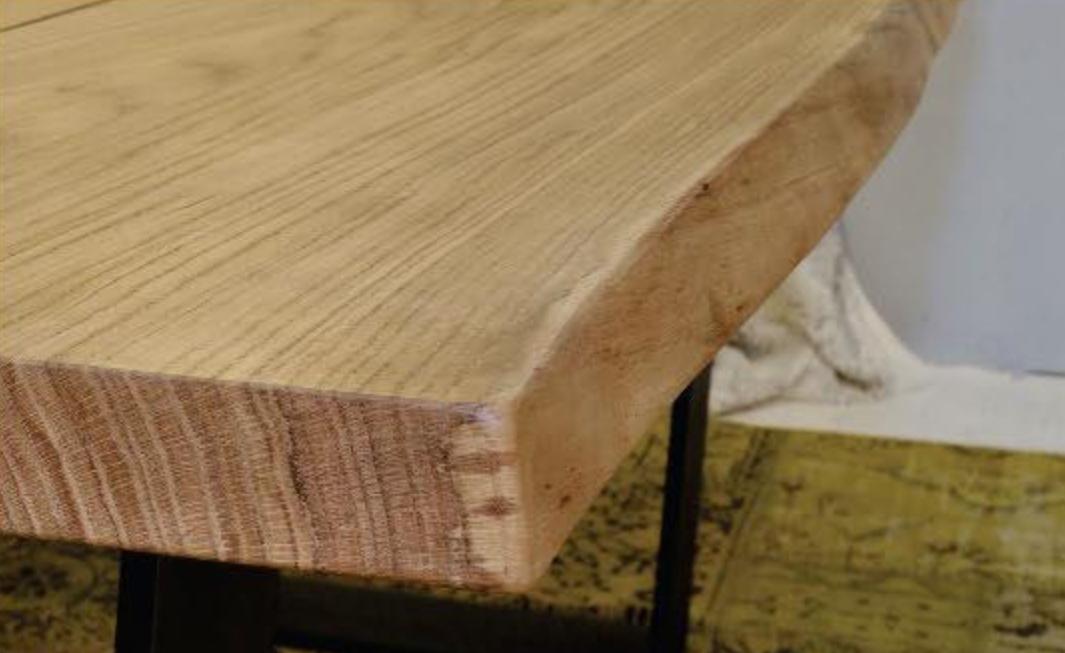 Tavolo rettangolare fisso in legno massello con struttura - Tavole legno massello ...