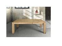 Tavolo in legno massiccio abete allungabile for Tavolo legno invecchiato