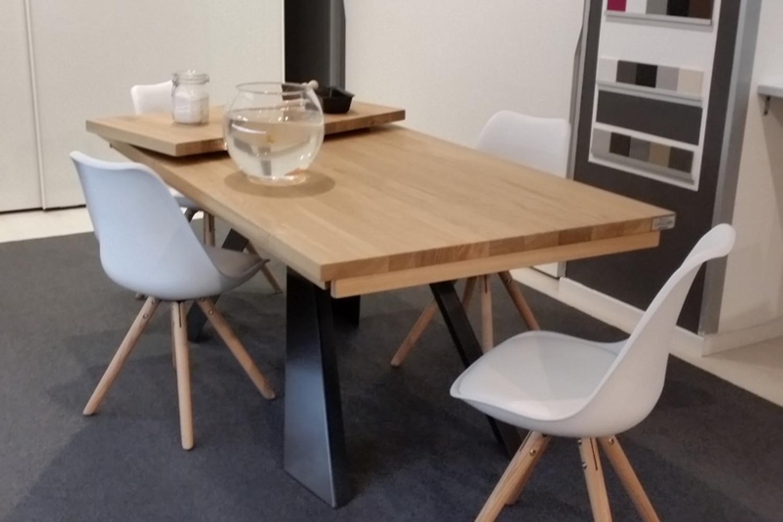 Tavolo legno e ferro allungabile tavoli pranzo legno - Epierre