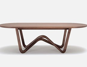 Tavolo in legno ovale 988 Rolf benz in offerta outlet