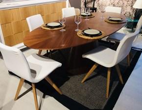 Tavolo in legno ovale Meridiana Artigianale in offerta outlet