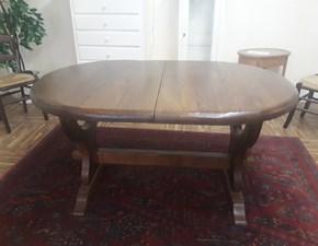 Tavolo in legno ovale Paganelli  Artigianale in offerta outlet