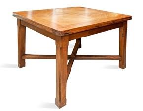 Tavolo in legno quadrato Croce Artigianale in offerta outlet