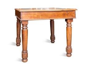 Tavolo in legno quadrato Da lavoro Artigianale a prezzo scontato