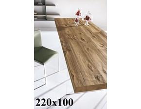 Tavolo in legno rettangolare Air 220x100 fisso wildwood Lago in offerta outlet
