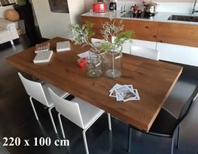 Tavolo in legno rettangolare Air wildwood table Lago in offerta outlet