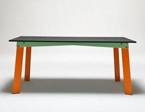 Tavolo in legno rettangolare Aronte Artigianale in Offerta Outlet