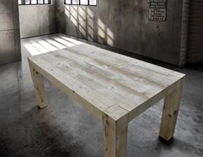 Tavolo in legno rettangolare Art.t7870 Artigianale in Offerta Outlet