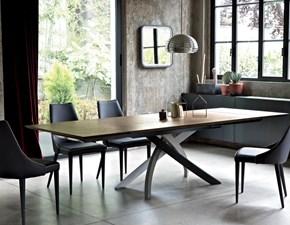 Tavolo in legno rettangolare Artistico Bontempi casa in Offerta Outlet