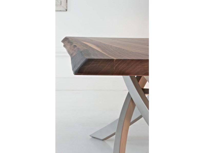 Tavolo in legno rettangolare artistico fisso bontempi casa - Casa in acciaio prezzo ...