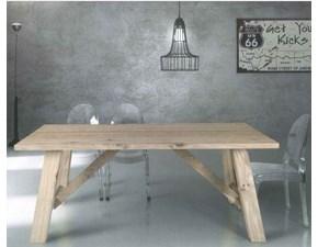Tavolo in legno rettangolare  atelier in rovere impiallacciato- art.814 Artigianale in Offerta Outlet