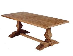 Tavolo in legno rettangolare Balaustra abete Artigianale in offerta outlet
