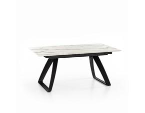 Tavolo in legno rettangolare Barret om330mb Stones in offerta outlet