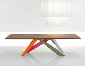 Tavolo in legno rettangolare Big table 160/240 Bonaldo in Offerta Outlet