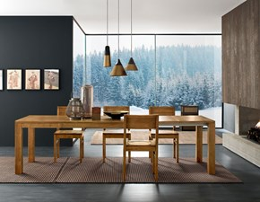 Tavolo in legno rettangolare Block  Fgf mobili in offerta outlet