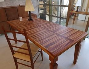 Tavolo in legno rettangolare Bois de rose  Artigianale in Offerta Outlet