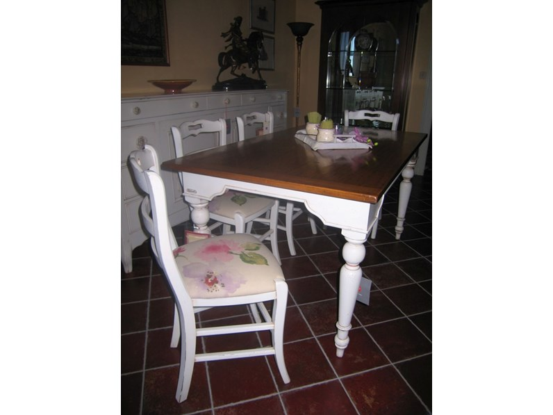 Tavolo in legno rettangolare brocantage di faber mobili a prezzo ribassato - Faber mobili prezzi ...