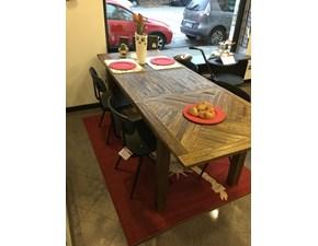 Tavolo in legno rettangolare Carciofo Artigianale in Offerta Outlet