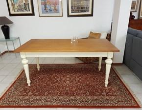 Tavolo in legno rettangolare Castagno Visentin in Offerta Outlet