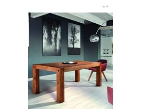 Tavolo in legno rettangolare Clamp Domus arte in offerta outlet