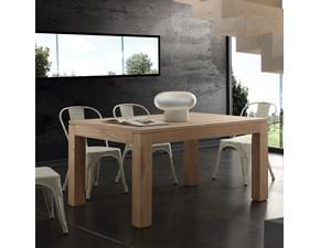 Tavolo in legno rettangolare Contemporaneo  La seggiola in Offerta Outlet