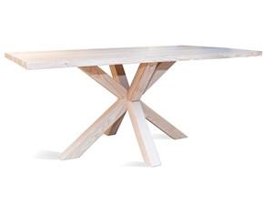 Tavolo in legno rettangolare Croce Artigianale in offerta outlet