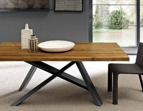 Tavolo in legno rettangolare Crossing Fgf mobili a prezzo scontato