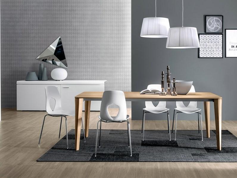 Tavolo in legno rettangolare dafne tonin casa a prezzo for Fontana arreda