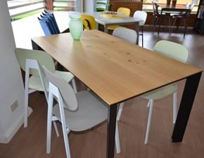 Tavolo in legno rettangolare Diamante Pointhouse in offerta outlet