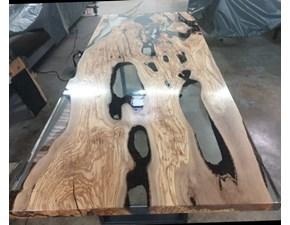 Tavolo in legno rettangolare Diamanti Artigianale in offerta outlet