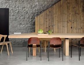Tavolo in legno rettangolare Double  Ethnicraft in offerta outlet