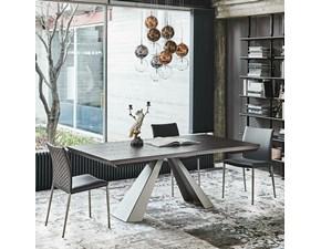 Tavolo in legno rettangolare Eliot wood drive Cattelan in offerta outlet