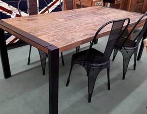Tavolo in legno rettangolare Fabric 3b salotti a prezzo scontato